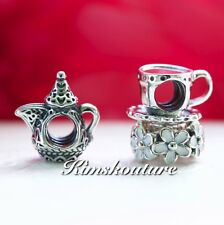 Authentic Pandora Gift Set Arabian Teapot Pot Dallah Charm 791756, 790361,791495