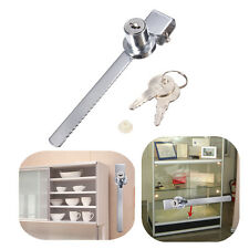 Display Case Showcase Lock Sliding Glass Cabinet Door Lock + 2 Security Keys