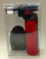 ZENGAZ TORCH HEAVY DUTY REFILLABLE BUTANE TORCH LIGHTER, NEW (BLACK OR RED )