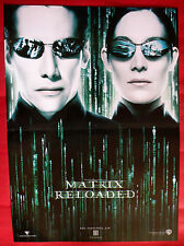 MATRIX RELOADED 2003 KEANU REEVES CARRIE ANNE MOSS RARE SERBIAN MOVIE POSTER