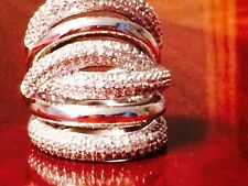 Victoria Wieck Vintage style 236 PC 14KT White gold filled ring size. 7