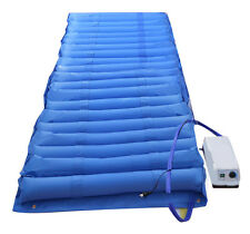 Blue Air Mattress Alternating Pressure Pump Pad Medical Bed Overlay Hospital