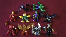 Mixed Lot of 10 Marvel Hero Squad Action Figures - Lot #1