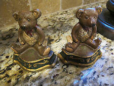 Vintage Cast Iron Teddy Bear  Door Stops/book ends