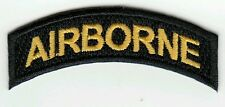 Patch US tab AIRBORNE cut edge pour 17th ou 101st  WWII - REPRO