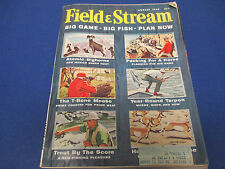 Field & Stream, August 1960, Big Game Big Fish Plan Now, Atomic Big Horns