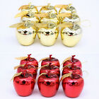 Christmas Tree Xmas Apple Decorations Baubles Party Wedding Ornament 12 pcs UKSK