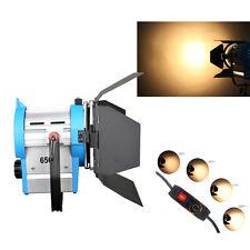 650W film Fresnela wolframu reflektor oświetlenie Studio Video Barndoor ściemnia