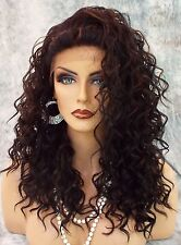 LACE FRONT LONG CURLS BRAIDED TOP COLOR FS1B.30 ALLURING SEXY  USA SELLER *496