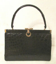 Vintage BELLESTONE Real Alligator Crocodile Skin Structured Handbag Bag Purse