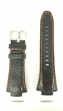 Original Seiko Z 15 Sportura Kinetic Watch Strap SNA481P1 Black Orange 7T62-0ED0