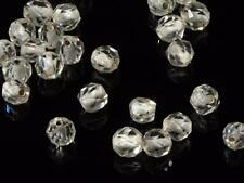 (54) 5mm Austrian antique faceted white lined crystal glass beads Swarovski