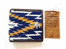 Ralph Lauren RRL Knit & Leather Southwestern Indian Print Eagle Bifold Wallet