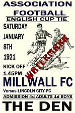 MILLWALL - VINTAGE 1920's STYLE MATCH POSTER