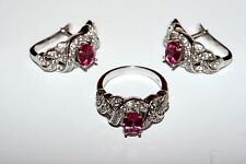 Delicate Amazing  EARRINGS Ring Ukrainian Set Silver 925!