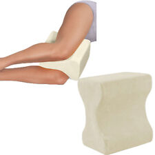 CONTOUR MEMORY FOAM LEG PILLOW ORTHOPAEDIC FIRM BACK HIPS & KNEE SUPPORT + COVER