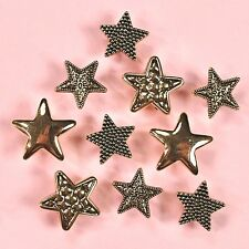 Buttons Galore Gold Stars 4052 - Gold Stars Vintage Dress It Up Buttons