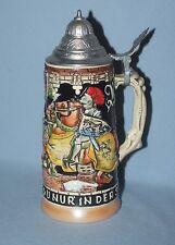 Vintage Egon Bay Lidded German Knights Stein 'Ruh Hast Du Nur Der Schenke'