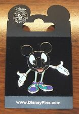 Disney Bobby Pin-Back Button Sneakers w/ Arms Out Welcome 2008 Collectible Pin!