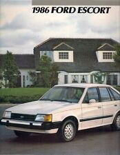 Ford Escort 1986 USA Market Sales Brochure Pony L Select LX GT Wagon