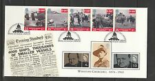 GB FDC 1994 D Day strip wth Churchill stamps,Imperial war musemn Cancel