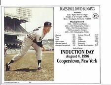 "Jim Bunning - Detroit Tigers - Hall of Fame Supercard 8"" x 10"""