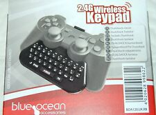 Blue Ocean 2.4G Inalámbrico Teclado Numérico Para PS3 Chatpad Teclado con USB Dongle