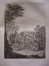 Grande gravure Fêtes Vienne Mariage Joseph II Marie Joséphine de Bavière en 1765