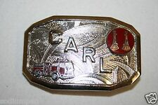 Vintage Mid Century Fire Fighter Engine Uniform CARL Small Belt Buckle MINTY