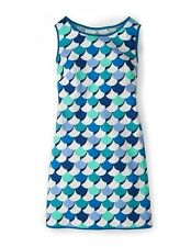 BNWT  Boden Phyllis Dress UK 14 R ( US 10 ) Blue Scallops Reduced !