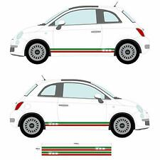 FIAT 500 BANDIERA ITALIANA lato Gon na ADESIVI Auto Decalcomania Grafica Stripe