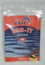 Spinner Bob-it  # 6 hook, gold, etic #761437 (ref#bte17)