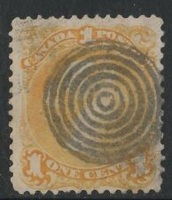 #23iii thin paper Large Queen 1c  Canada used  RARE