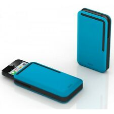 DOSH NEW Rubber iPhone Card Wallet Blue BNWT