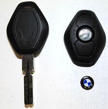 BMW 3 Z3 E36 E46 7 E38 X3 E83 X5 E53 CHIAVE GUSCIO COVER TELECOMANDO 3 tasti