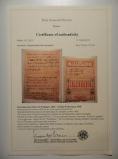 Expertise , evaluation of autographs signed documents ( COA ) , Old rare books