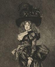 Goupil Portrait de Femme Mode en 1795 - Eau Forte Louis Monziès XIXème