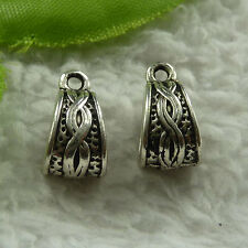 free ship 232 pieces tibet silver nice bail charms 14x8mm #3907