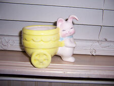 Holland Floral Mini Bunny Planter Easter Rabbit