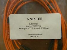 ANIXTER 2 METER FIBER OPTICS CABLE ASSEMBLY PN 139055 LOT OF 4 FREE SHIPPING
