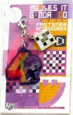 Gundam 00 Tieria Fastener Accessory April Metal Charm Anime Manga Game MINT