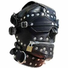 Fetish Bondage Gimp Hood Sensory Deprivation Hood Mask Faux Leather Sci Fi zb002
