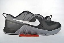 NEW Nike Metcon 1 BLACK METALLIC SILVER COOL GREY 704688-002 sz 9 CROSSFIT 2