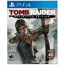 PS4 Tomb Raider Definitive Edition Lara Croft NEW Sealed Region Free USA game