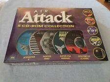 AIR ATTACK -  5 CD-ROM'S, FIGHTER WING / TFX / JET FIGHTER II / SPECTRA..NEW, PC