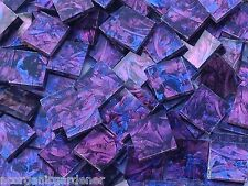 100+ Van Gogh Stained Glass Mosaic Tiles Blue Purple 1/2""