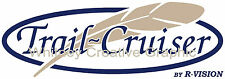 """""""TRAIL CRUISER"""" With Feather  RV LOGO Graphic decal lettering"""