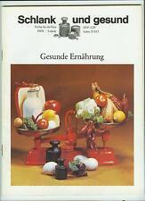 DDR Zeitschrift Schlank und gesund