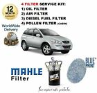 FOR SSANGYONG KYRON 2.0 DT 01/2006- OIL AIR FUEL POLLEN FILTER SERVICE KIT