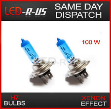 FORD XENON WHITE EFFECT 6000k H7 100W HEADLIGHT BULBS HI / LO BEAM 12v 6000k